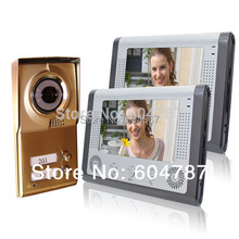 "7"" Video Door Phone For Neighbors 2 Families Apartments Cheap Set Night Vision(China)"