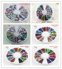 Multi option 2mm/3mm/4mm/5mm Mix Color Rhinestone Decoration and Nail Art 007006002