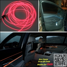 For Cadillac ATS Car Interior Ambient Light Panel illumination For Car Inside Tunning Cool Strip Refit Light Optic Fiber Band