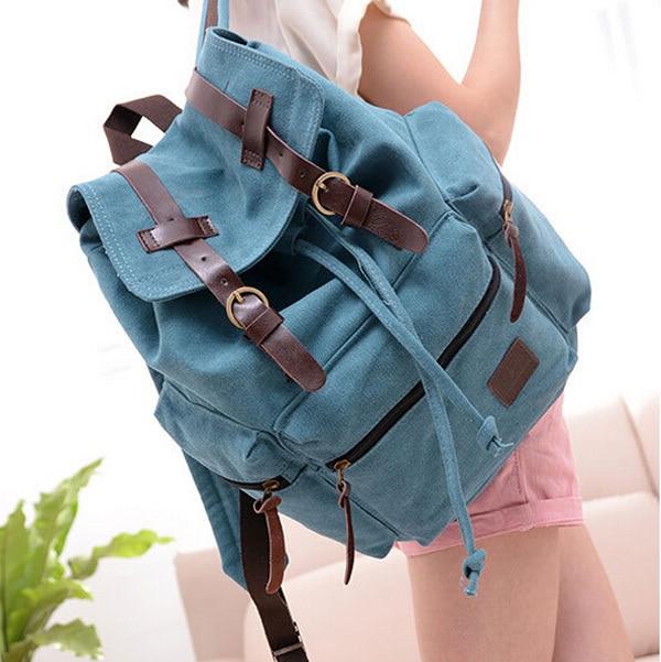 Multifunctional Mens Canvas Backpack Women School Travel Rucksack Shoulder Bag Bookbag Satchel Design OR640585<br><br>Aliexpress
