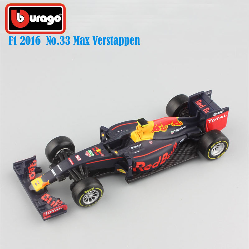1:43 Scale 2016 children metal diecast F1 formula 1 Red Bull Racing TAG Henuer RB12 No.33 Max Verstappen cars styling model toys(China (Mainland))