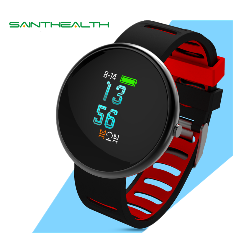 Saint Health I10 Smart wristband 2.5D Curved Glass OLED Colorized Screen Wireless Blood Pressure Heart Rate Watch IOS Androd<br>