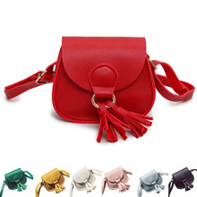 Fashion Mini Women Shoulder Bag Leather Solid Color Tassels Decoration Ladies Girls Messenger Bags For Travel Shopping B