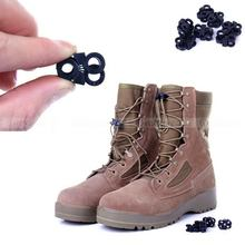 5 Pcs Cross Design EDC Quick slip plastic Boot Shoelace Buckle Fixed Stopper Rope Clamp Lock Outdoor Sport