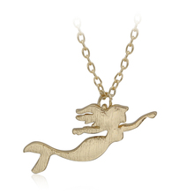 Valentine's Day Gift Tiny Cute Girl Swing Danity Simple Girl Mermaid Pendant Necklaces Necklaces For Women Girls