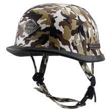 VOSS Motorcycle Helmet Motorcross Vintage Camouflage Helmet For Scooter Leather Crash Helmet Windproof Open face Harley Helmets(China)