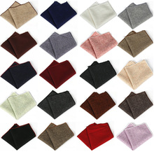 Men High Quality Wool Cotton Pocket Square Wedding Party Handkerchief Hanky  BWTYF0012