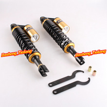 415mm Rear Air Shocks Absorber Suspension w/ Clevis For Honda UTV Quad Scooter Moped ATV Black/Gold