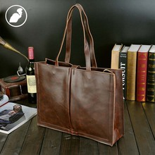 ETONWEAG Brands Designer Handbags High Quality Brown Vintage Leather Bags Women Messenger Bags Laptop Tote Bag Big Shopping Bag