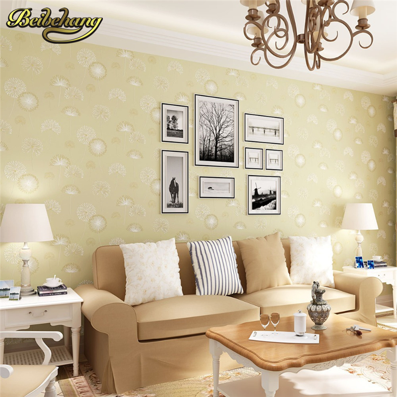 beibehang warm pastoral wallpaper papel de parede 3D wall paper contact paper Non woven wallpaper Damascus wall mural home decor<br>