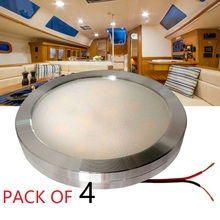4pcs Cool White 12v DC LED Under Cabinet Lights Aluminum Cover Caravan RV Interior Lighting Roof Kitchen/Wine Cabinet Lamps(China)