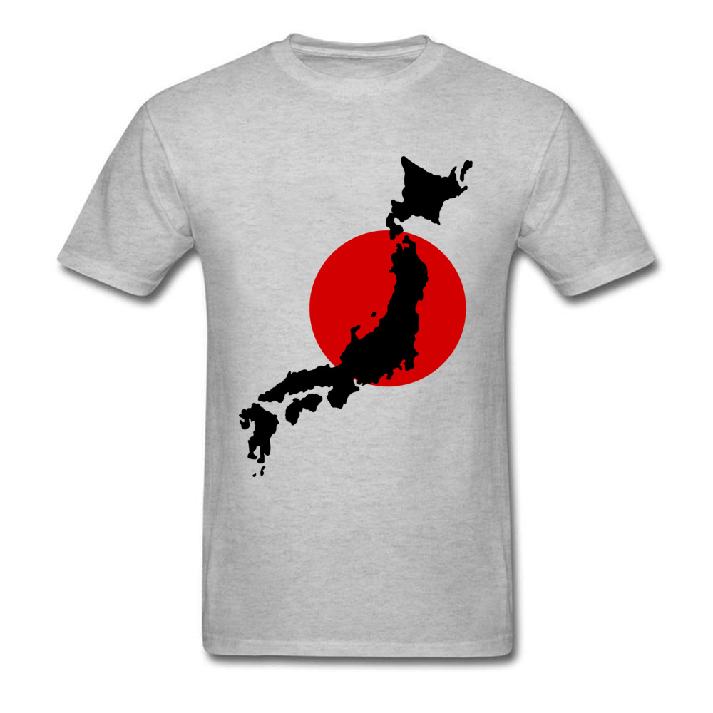 Japan Graphic Normal Summer Cotton Round Neck Men Tops Tees Birthday T Shirts On Sale Short Sleeve Tshirts Drop Shipping Japan Graphic grey