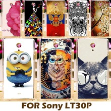DIY Painting Design Hard Plastic Case For Sony Xperia T Lt30p 4.6 inch Lt30 LT30I Cell Phone Cover Protective Sleeve Para Capa