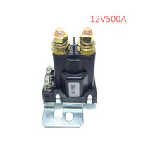 1PC 12V/24VDC 500A AMP 4 Pin Relay On/Off Car Auto Power Switch Plastic Double Batteries Isolator for Forklift Engineering(China)