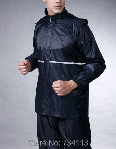 Impermeable durable 2017 Motorcycle Raincoat Rain Pants Suit Riding Bicycles Electric bike [ Split ] Waterproof Rainwear fishing