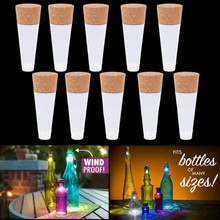 Party Decor 1pc Cork Shaped Rechargeable USB LED Night Light Wine Bottle Lamps(China)