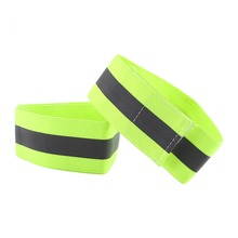 Cycling Running Outdoor Sports High Visibility Reflective Wristbands Elastic Ankle Bands Arm Band 1Pair(China)