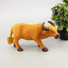 new simulation cow toy handicraft yellow cattle model gift about 26x9x13cm