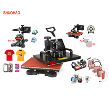 Advanced New Design 8 In 1 Combo Heat Press Machine,Sublimation/Heat Press,Heat Transfer Machine For Mug/Cap/T shirt/Phone cases(China)