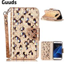 For Samsung S7 Leather Case Luxury Laser Butterfly Optical Maser Leather Wallet Case for Samsung Galaxy S7 G930 - FREE SHIPPING