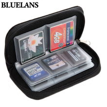 2015 Hot Black SD SDHC MMC CF Micro SD Memory Card Storage Carrying Pouch Case Holder Wallet  1O5T 636Y