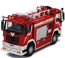 1:64 alloy car model,high simulation Italian double-headed fire truck model,collection engineering toy vehicle,free shipping(China)
