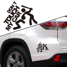 Funny reflective DON'T TOUCH MY CAR warning sticker,car styling tail window decoration decals label,personality auto decor film(China)