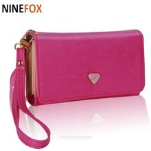 2016 Elegant Lady Wallet Synthetic Leather Envelope Design Women Wallets Hasp Candy Color Clutch  Female Money Purses P5