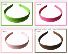 50pcs wide :2cm Basic hair fascinators grosgrain ribbon winding hair band head band for woman/girl/Lady FJ3104(China)