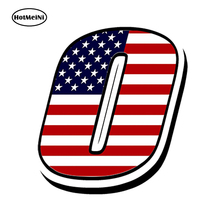 HotMeiNi 13cm x 10cm Car Styling RACING NUMBERS VINYL USA UNITED STATES FLAG STICKERS MOTOCROSS MOTO AUTO CAR ATV(China)