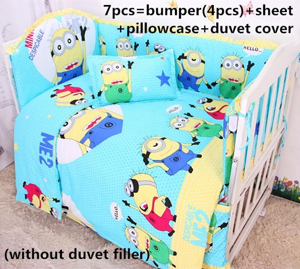 Discount! 6/7pcs Baby Cot bedding set 100% cotton Baby crib bedding set,120*60/120*70cm<br><br>Aliexpress