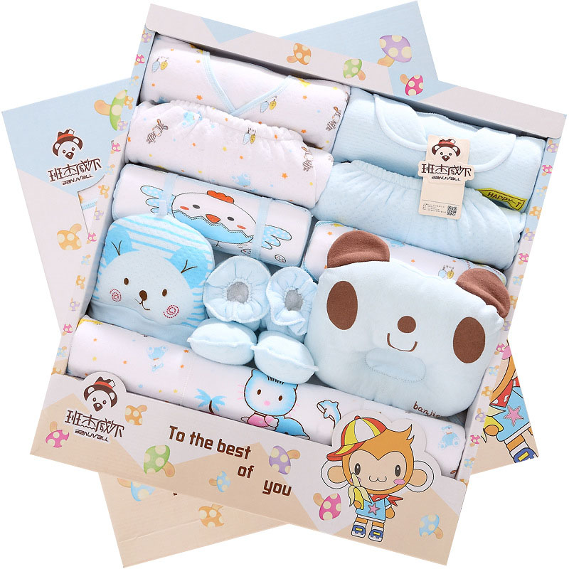 17Pcs /Set 100% Cotton Newborn Gift  Set  Girls Clothing Sets  Length Sleeve Baby Clothing  Winter Infant  Underwear Baby Hold<br><br>Aliexpress