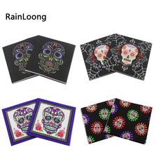 [RainLoong] Skull Print Paper Napkins For Punk Halloween Decoration Napkin Servilleta 33*33cm 20pcs/pack(China)