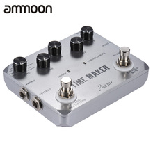 New Arrival! TIME MAKER Guitar Delay Effect Pedal 11 Type of Effects True Bypass Mono Stereo Input/ Output with USB Cable