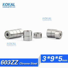 [CM603ZZ]Free Shipping 10pcs chrome steel factory directly supply ball bearing Gcr15 603ZZ 603-2ZZ 603 bearing 3*9*5mm(China)