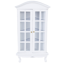 New Arrivals 1/12 Dolls House Miniature Furniture Corner Cabinet with Opening Door Education Birthday Gift Kids Toys for Child