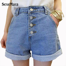 TL2023 Cheap wholesale 2017 new Autumn Winter Hot sale women's fashion casual student loose contracted High waist jeans shorts(China)