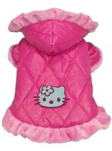 Pink Hello Kitty Dog Puppy Clothes Small Dogs Hoodie Coats Dress Warm Jacket Winter Dogs Clothes(China)