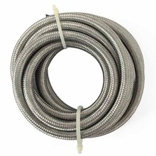 evil energy-Universal AN12 Oil Fuel Hose Fitting 5M Hose End Kit Stainless Steel Braided Hose Line
