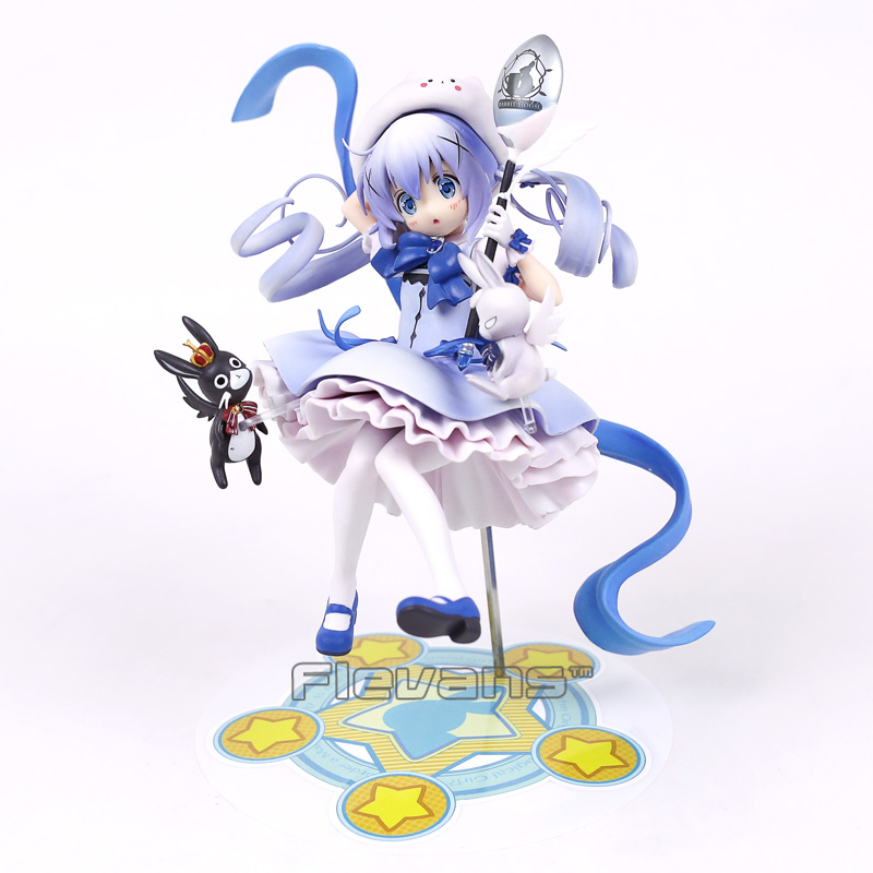 Anime Is the order a rabbit? Kafuu Chino 1/7 Scale PVC Painted Figure Collectible Toy 21cm<br>