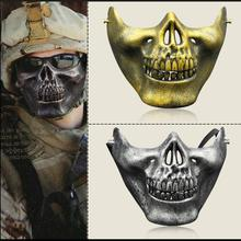 NEW Skull Mask Army Games Outdoor Metal Mesh Eye Shield Costume For Scar Cosplay Party Decoration Costume Theater Toy