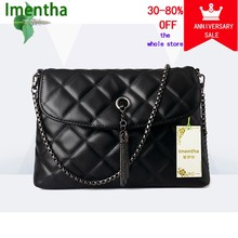 Wome Chain Bag Quilted Leather Women Female Black Plaid Handbags Sac A Main Femme Tassel