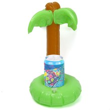 1pcs Inflatable Toys Home Decor Floating Inflatable Drink Can Holder for Tea Cup Summer Pool Swimming Toy Hot Sale Green Trees