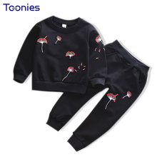Autumn Clothing Sets Girl Boy Sports Wear Suits Cotton Winter Clothes High Quality Toddler School Uniform Suit New Design Print(China)