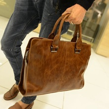 High Quality Men's Bags of Buffalo Leather Waterproof Tablet Bag Leather PC Bag for Men Business Briefcase Leisure Handbag