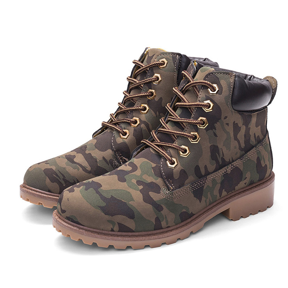 Szyadeou Women Ladies Round Toe Lace-up Faux Boots Ankle Casual Martin Shoes botas mujer invierno kozaki damskie schoenen 30 8