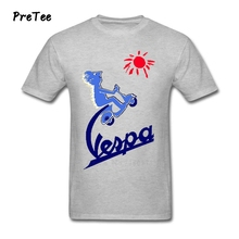Male Vespa T Shirt Cotton Short Sleeve O Neck Vespa Tshirt Man's Garment 2017 New Coming Vespa T-shirt For Teens