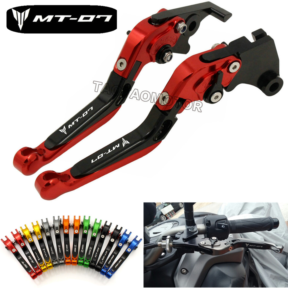 Clutch-Levers Motorbike Brakes CK Yamaha Mt07 CNC MT-07 Extendable for Cattle-King title=