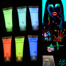 Fluorescent Body Face Paint Makeup Flash Tattoo Halloween Body Painting Drawing Pigment Face Glowing Body Paint Party Cosplay(China)