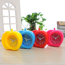 Happy Birthday Gift Apple Shaped Digital Clock  Plastic Material reloj  for Home Room Decoration saat Alarm Clock